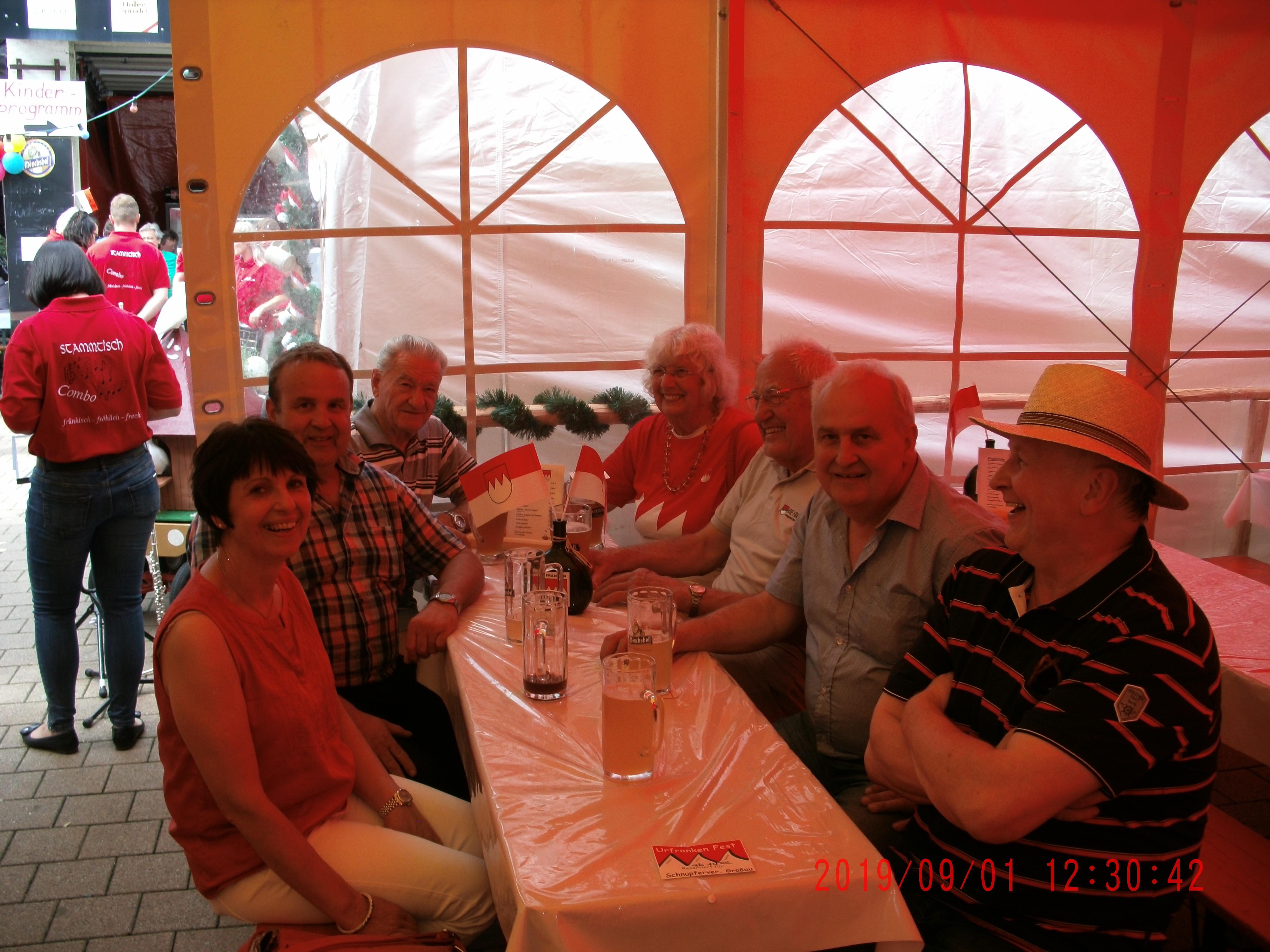 2019-09-01-Urfrankenfest in Förtschendorf bei KC .  F.B.Tisch  Fo.S.W.