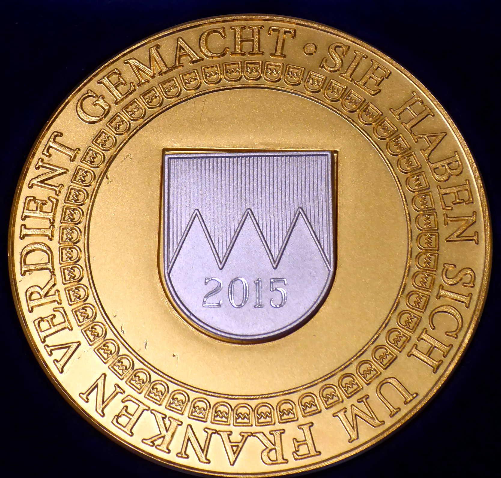 2015 10 Frankenmedaille Foto P.Purrucker