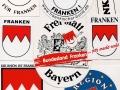 1991 5 Aufkleber aus der Anfangszeit des Fränkischen Bundes e V.jpg