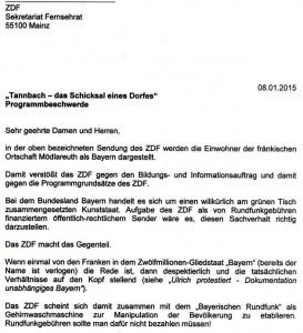 ZDF Beschwerde Hofmann