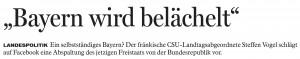 Bayern wird belächelt